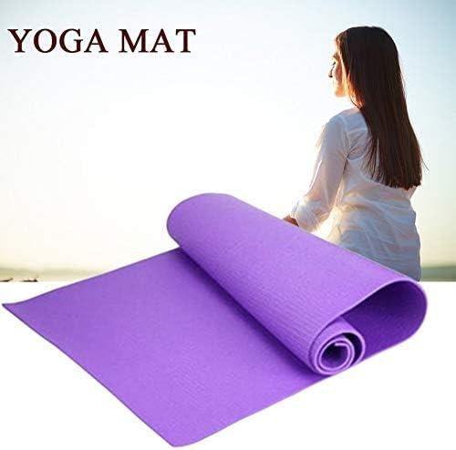 Violet Pudincoco Tapis de Yoga antid/érapant Universel /épais de 6mm Pad dexercice Fitness Perdre du Poids 180cmX60cmX0.6cm Tapis de Jeu pour Plancher antid/érapant