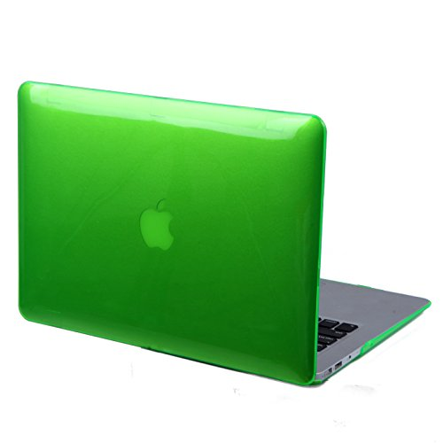 """HDE Glossy Hard Shell Clip Snap-on Case for MacBook Air 13"""" - Fits Model A1369 / A1466 (Green)"""
