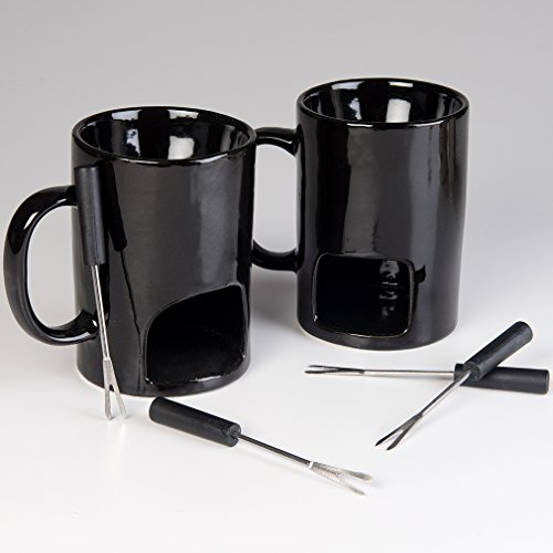 Evelots Fondue Mugs,2 Mugs,4 Forks & 8 Votive Candles-Minor Defects-14 Piece Set by Evelots (Image #4)