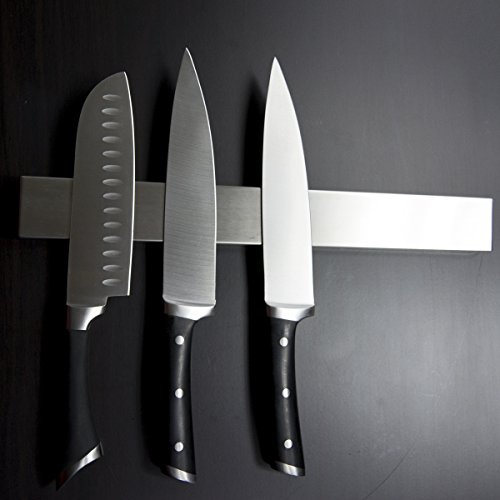 +Hot+ 16 Inch Stainless Steel Magnetic Knife Holder Magnetic Knife Strip, Magnetic Knife Bar Stainless Steel Easy to Install