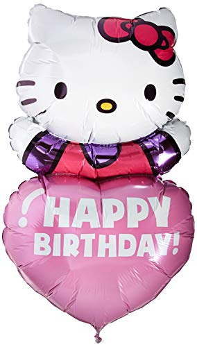 Personalized Hello Kitty (Anagram 29654 Hello Kitty Personalized: Supershape Foil Balloon, 32