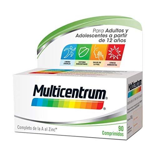 chollos oferta descuentos barato Multicentrum Complemento Alimenticio con 13 Vitaminas y 11 Minerales para Adultos y Adolescentes a partir de 12 años 90 Comprimidos