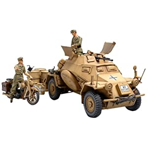 TAMIYA 300035286–1:35WWII Special Automotive 222Direct-Action Reconnaissance Tank North Africa (3) 3