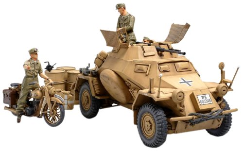 - Tamiya 300035286 - 1:35 WWII Special Automotive 222 Direct-Action Reconnaissance Tank North Africa (3)