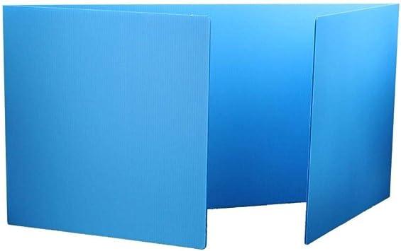 Blue Premium Round Study Carrel Single Item