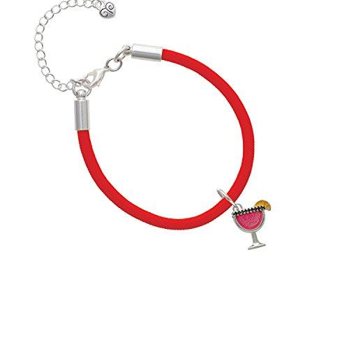 Hot Pink Tropical Drink Red Malibu Paracord Bracelet