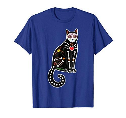 Mens Sugar Skull Cat Kitten Shirt - Day