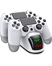 BEBONCOOL PS4 Controller Charger, Controller USB Charging Station Dock for DualShock 4, Playstation 4 Charging Station for Sony Playstation4 / PS4 / PS4 Slim / PS4 Pro Controller-White