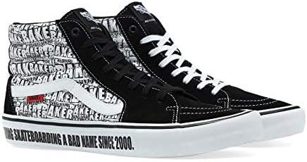 Best Place Vans Men SK8 Hi Pro Baker Suede Black/White Skate Shoes VN0A45JDV0B BXruz2