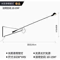 Avanthika E27 Wall Sconces Personalized Design Italian Long Reach Boom Shook His Head Swing-Arm Lamp Wall Lights