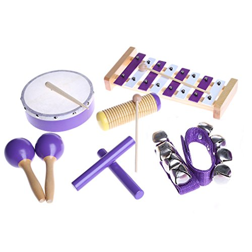 Rockrok Kids Musical Instruments Percussion Set - Rhythm Xylophone Tambourine Music Toys for Children by Rockrok