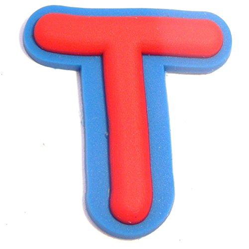 Letter T Shoe Rubber Charm Jibbitz Croc Style