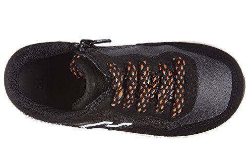 Hogan BabyschuheSneakers Kinder Baby Schuhe Turnschuhe Leder interactive Schwar