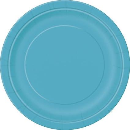 Teal Paper Plates 16ct  sc 1 st  Amazon.com & Amazon.com: Teal Paper Plates 16ct: Kitchen u0026 Dining