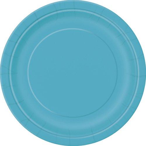 Unique 32123 Teal Paper Plates