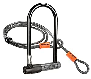 Kryptonite KryptoLok Series 2 Bicycle U Lock with 4ft Flex Cable