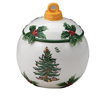 Amazon.com | Spode Christmas Tree Figural Candy Dish and Cover ...
