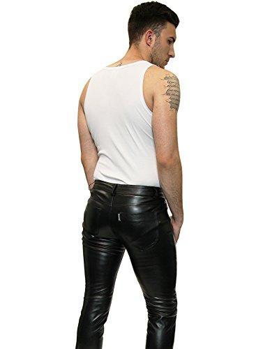 Noir Pants Pantalon En Similicuir Bockle® Faux Leather Stretch 1nYqH0O