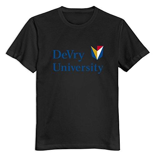 black-devry-university-casual-t-shirt-for-man-size-l