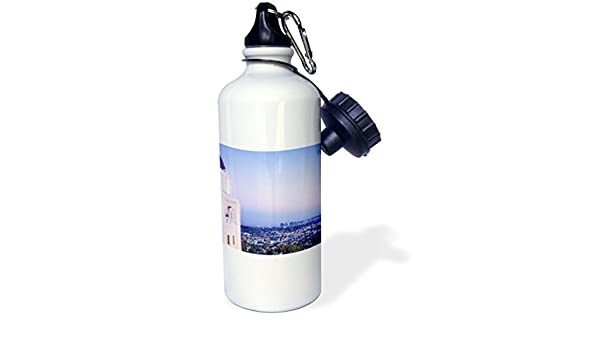 White 3dRose wb/_223428/_1 Los Angeles from Griffith Park Observatory-Sports Water Bottle 21 oz