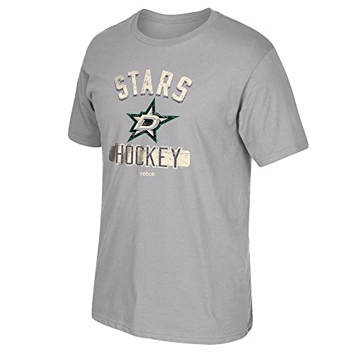 - NHL Dallas Stars Men's Miracle Short Sleeve Go-To Tee, Medium, Gray