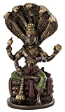 Top Collection Hindu God Vishnu Statue - Preserver and Protector of The Universe Sculpture in Premium Cold Cast Bronze - 5.25-Inch Collectible Hindu Figurine