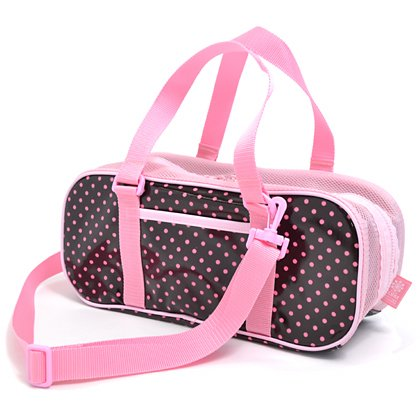 Made in Japan N2103610 (pink dots on chocolate ground) Kids paint set Sakura Color polka dot rated on style (japan import)