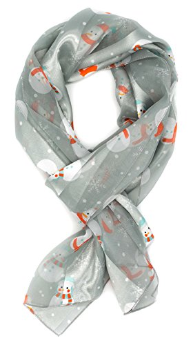 Crown NEW Christmas Scarf w/ Gift Box (Snowman-Silver) (Snowmen Gifts)