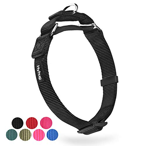 Heavy Duty Anti-Escape Martingale Collar Dog for Large Breeds Dogs - Walking Training Daily Use.(Large,Black)