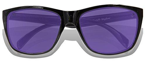 para Full de adultos Revo Frame Glossy sol Lens Gafas Black KZ Purple qtx8BB