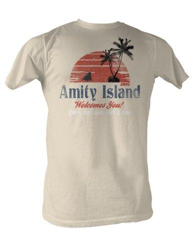 Jaws Amity Island Mens T Shirt Xl