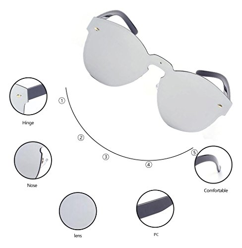 GAMT Reflective Rimless Sunglasses Fashion Vintage Eyewear for Unisex