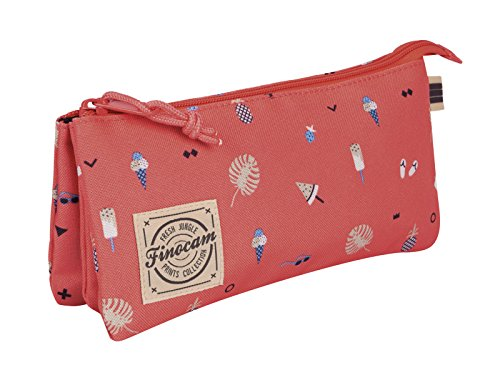 Finocam Prints Flamingo Estuche, Triangular