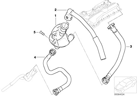 Bmw Genuine Crankcase Breather Hose Return Pipe E46 3 Series