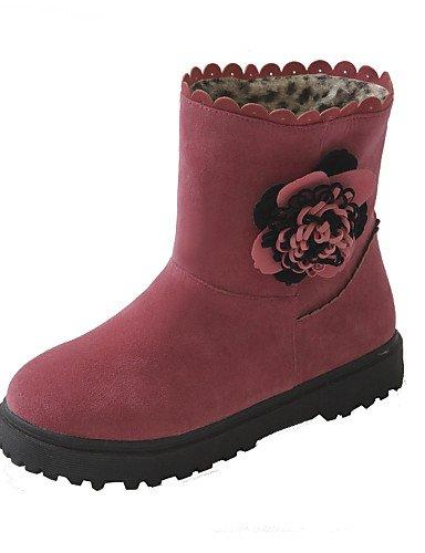 Negro Redonda Pink us7 Botines Botas Eu39 Xzz 5 Rojo us8 Uk6 5 Rosa Ante Pink De Uk5 Vestido Mujer Plataforma Cn38 Sintético Eu38 Cn39 Zapatos Punta fRPq6RY