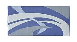 Reversible Mats 159183 Blue/Grey 9\'x18\' RV Patio Mat