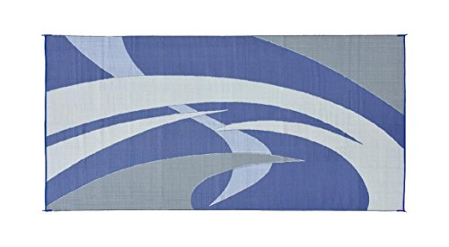 Reversible Mats 159183 Blue/Grey 9'x18' RV Patio Mat
