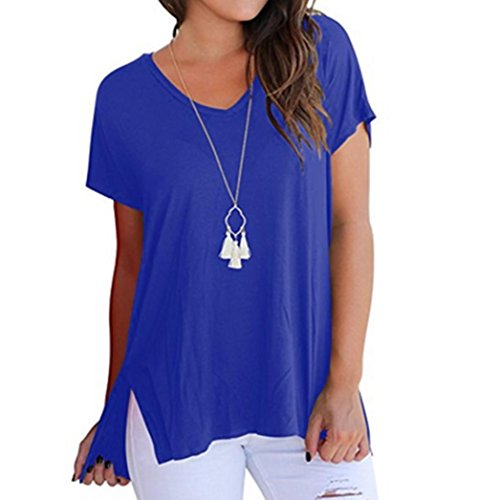Wintialy Women's Basic Short Sleeve Tops Casual Loose Tshirts With Front Pockets from Wintialy women clothes