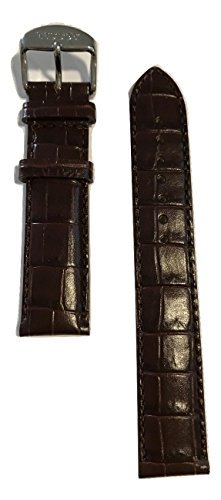 Tissot PR100 Dark Brown Leather 19mm Strap Band w/ Buckle for T049417A