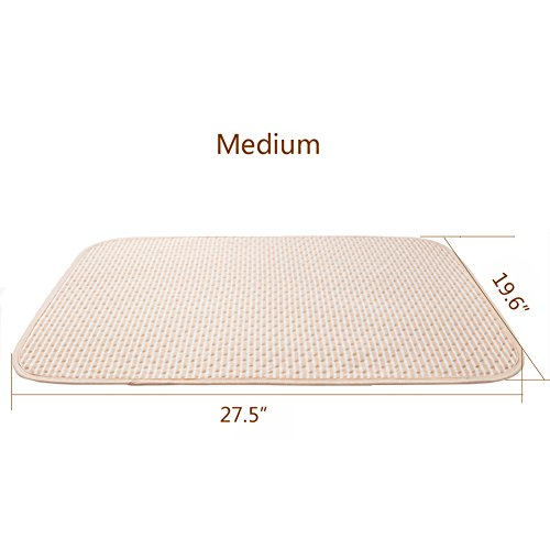 Baby Waterproof Urine Mat Natural Organic Cotton Crib Mattress,Diaper Changing Pad Washable Incontinence Sheet Cover Protector for Toddler Adults (M, 1 PCS)