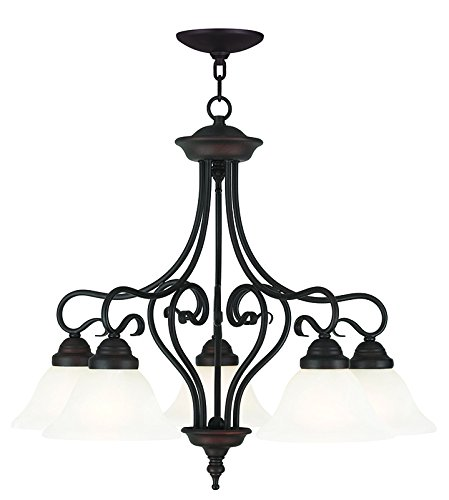 Livex Lighting 6135-07 Coronado 5 Light Dinette, Bronze