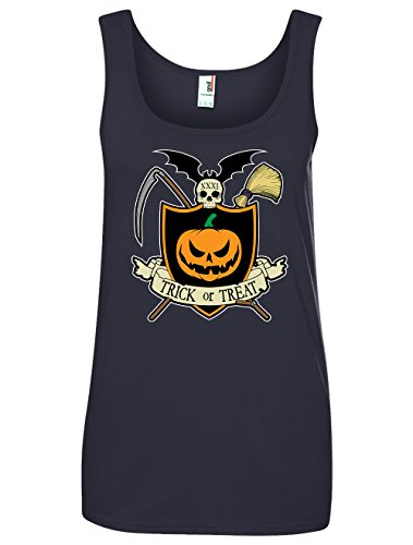 Tenacitee Women's Halloween Crest Tank Top, X-Large, (Crest Halloween Treats)