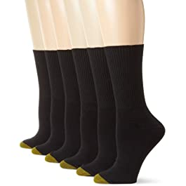 Gold Toe Women's Classic Turn Cuff Socks, 6 Pairs