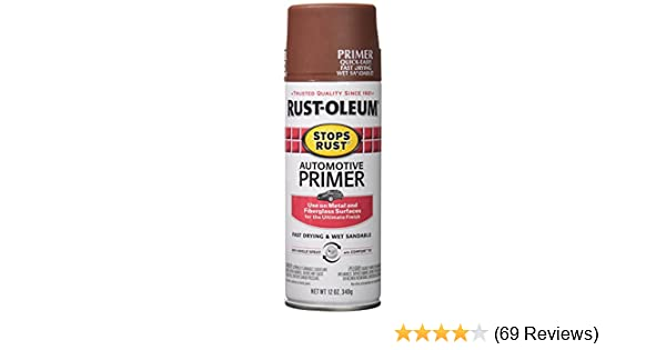 Rust-Oleum 2067830 Stops Rust Spray Paint, 12-Ounce, Flat Red Auto