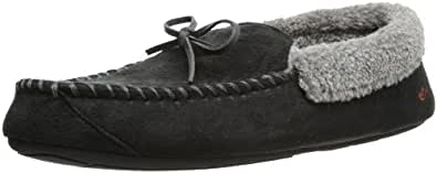 Dockers Ryan Aviator Moccasin with Warm Plush-Sherpa style collar, Black,  8-9 M