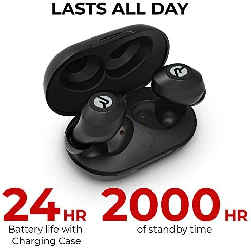 Raycon E25 Everyday Wireless Earbuds Bluetooth Headphones - Bluetooth 5.0 Bluetooth Earbuds Stereo Sound in-Ear Bluetooth Headset True Wireless Earbuds 24 Hours Playtime and Built-in Microphone Black