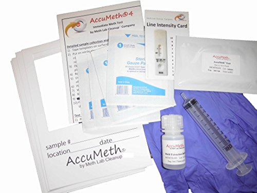 AccuMeth4 - Meth Residue Test for Homes - Sample 4 Areas, Get 1 Result (0.1 ug/100cm2 legal standard)