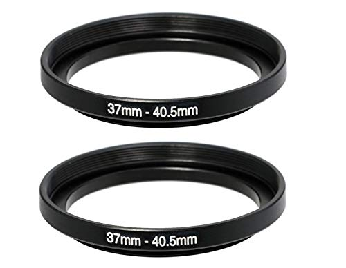 (2 Packs) Fotasy 37-40.5MM Step-Up Ring Adapter, 37mm to 40.5mm Step Up Filter Ring, 37mm Male 40.5mm Female Stepping Up Ring for DSLR Lens & ND UV CPL Infrared Filters