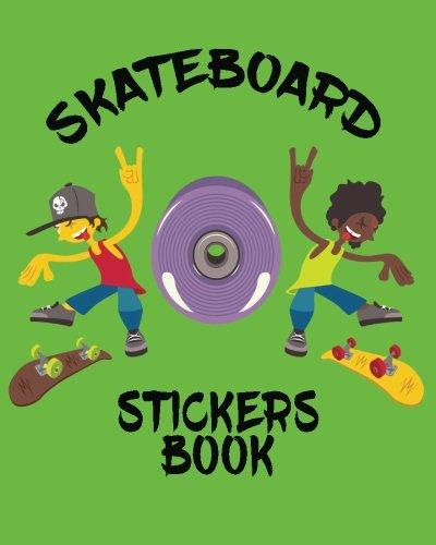 Skateboard Stickers Book: Blank Permanent Sticker -