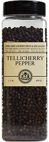 India Tree Tellicherry Pepper, Pantry Pak, 1lb (India Tree Tellicherry Pepper)